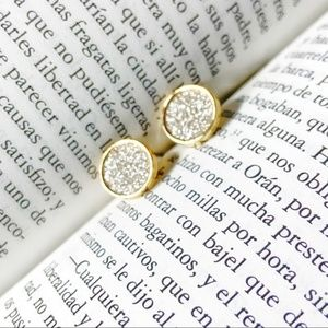 GOLD AND SILVER DRUZZY COIN STUDS